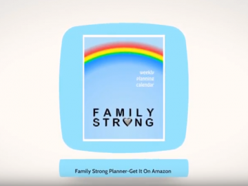 Family Strong Rainbow Planner